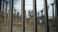Electricity substation. - stock footage