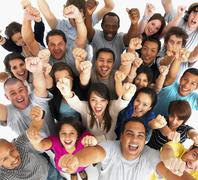 Excited people - stock photo