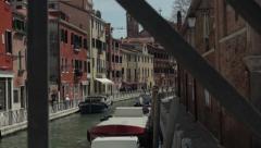 Venice Canal Rack Focus - stock footage