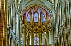 Caen, the abbaye aux Hommes in France - stock photo