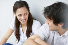 Stock Photo of Two people talking