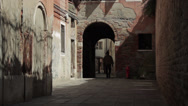 Stock Video Footage of Venice Italy Alley Man Walking