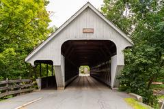 Woodstock Covered Bridge Stock Photos