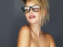 Stock Photo of Sexy blond wearing glasses