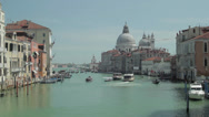 Stock Video Footage of Venice Italy Skyline and Grand Canal