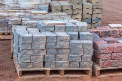 concrete pavers - stock photo
