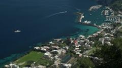 Boats & Yachts in Capri, Italy - stock footage