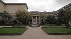 ASSEMBLEE NATIONALE GARDENS - FRANCE Stock Footage