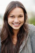 Stock Photo of Smiling attractive brunette woman