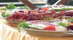 Seafood dishes in Recife, Brazil Stock Footage