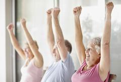 Stock Photo of Senior's exercise class