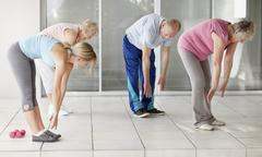 Senior's exercise class Stock Photos