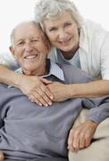 Affectionate senior couple - stock photo
