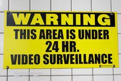 Video Surveillance Warning - stock photo