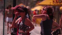 Tourist on the beach. Rio de Janeiro Stock Footage