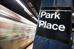 Park Place Subway Sign Stock Photos