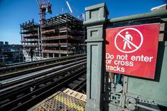 Subway Warning Sign - stock photo