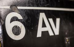 6th Ave Subway Sign - stock photo