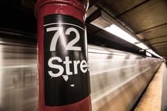 72nd Street Subway Sign - stock photo
