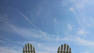 Stock Video Footage of Lawn chairs with moving clouds