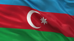 Flag of Azerbaijan seamless loop Stock Footage