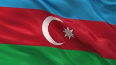 Flag of Azerbaijan seamless loop - stock footage