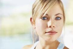 Stock Photo of Portrait of young blonde woman