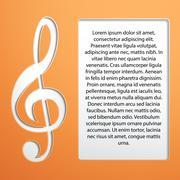Music Note - treble clef Stock Illustration