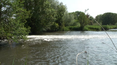 Wier pool near Burfield Bridge on KA Stock Footage
