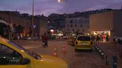 Kusadasi traffic, colorful sunset, magic hour stuff Stock Footage