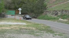 Motorsports, hillclimb, green Sunbeam Tiger Stock Footage