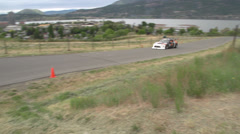 Motorsports, hillclimb, Scion FRS, off-camber turn Stock Footage