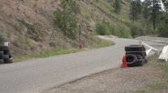 Motorsports, hillclimb, green min Vauxhall Stock Footage