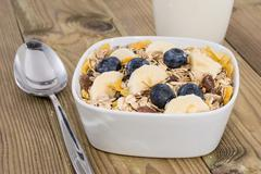 Stock Photo of mixed muesli with nuts and fruits
