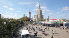 WARSAW LARGE VIEW Stock Footage