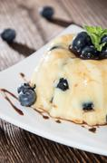 Blueberry pudding Stock Photos