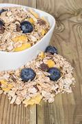 Stock Photo of mixed muesli with blueberries