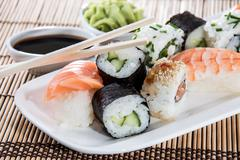 Stock Photo of sushi on a plate