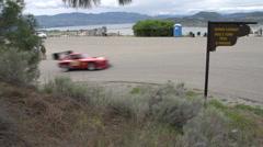Motorsports, hillclimb, red V8 MGB-GT Stock Footage