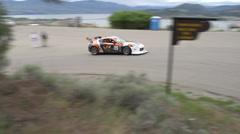 Motorsports, hill-climb, Scion FRS, out of hairpin Stock Footage