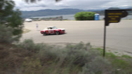 Stock Video Footage of motorsports, hill-climb, Alfa Romeo out of hairpin