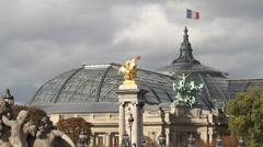 PARIS - GRAND PALAIS ROOF TOP Stock Footage