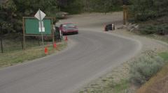 Stock Video Footage of motorsports, hillclimb, red honda civic