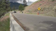Motorsports, hillclimb, Course closure car Stock Footage