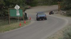 Motorsports, hillclimb, blue Dodge Omni GLH Stock Footage