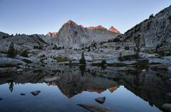 Picture peak reflection Stock Photos