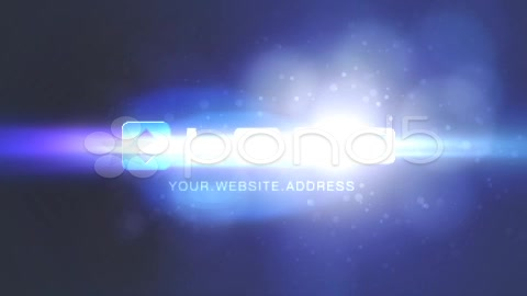 After Effects Project - Pond5 Blue Optical Flare with Elegant Particles Log ...