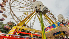 Ferris Wheel Timelapse Stock Footage