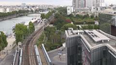 PARIS VIEW - AERIAL SHOT - stock footage