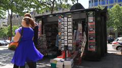 PARIS - NEWS STAND Stock Footage